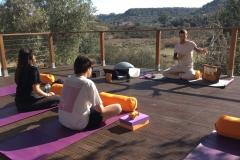Yoga equipment provided