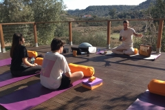 Yoga equipment provided: mats, blocks, belts, blankets and bolsters