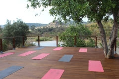 Waterfront deck for pilates or yoga