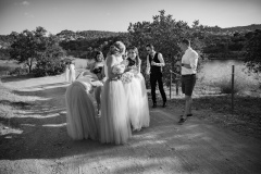 arrival-bridal-party-bw
