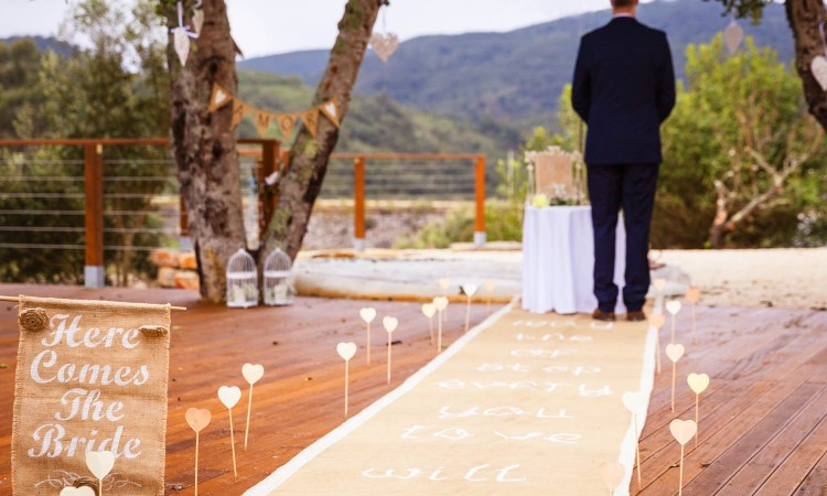 Wedding celebration in the Algarve at the retreat in Portugal