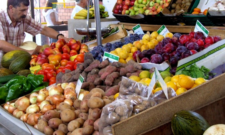 Local produce at market in Algarve