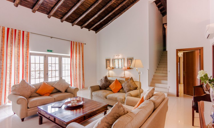 Luxury lounge area to enjoy on your family holiday at this retreat in the Algarve countryside
