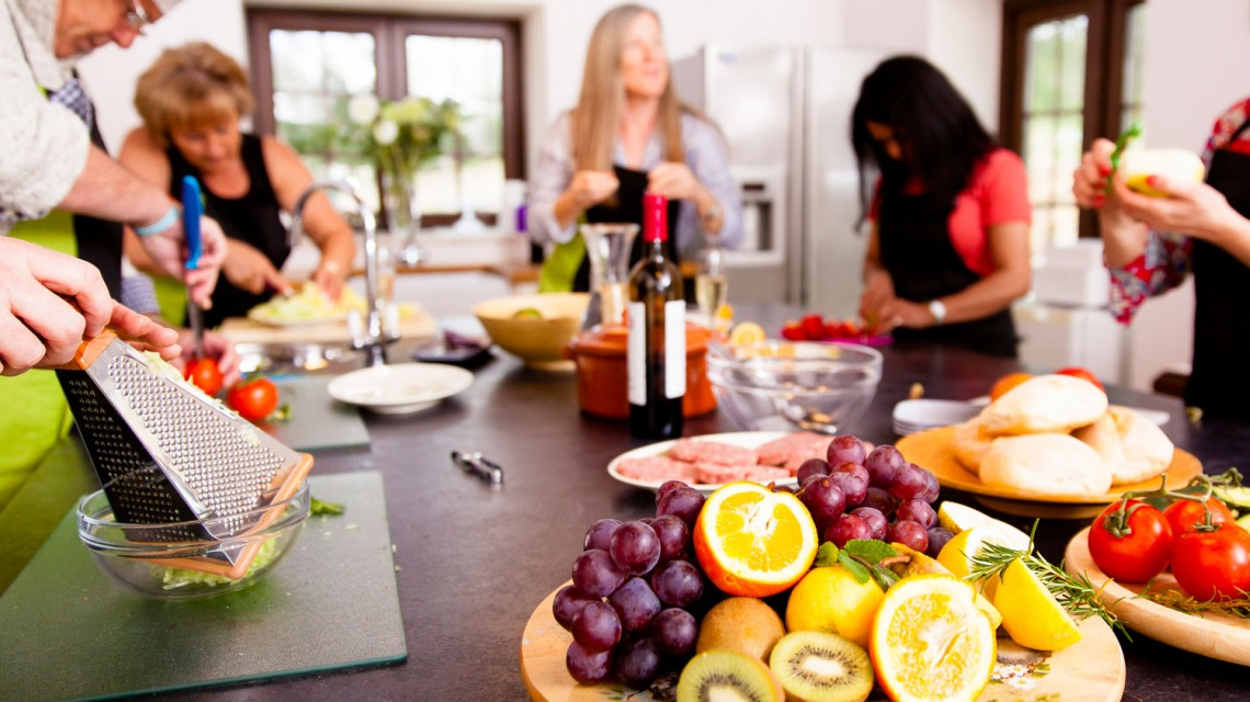 Group cookery holidays or workshops