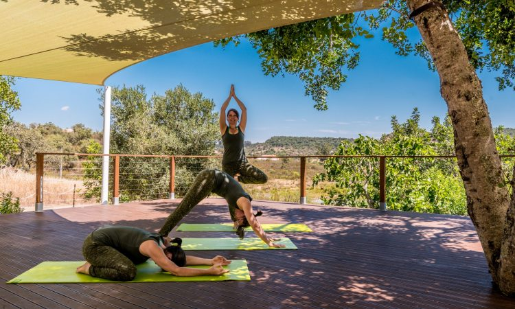 Yoga and Detox in The Algarve | yoga posture at The River House