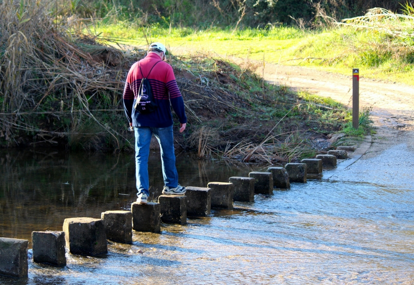 Retreat activities in Southern Europe | stepping stones on via algarviana portugal