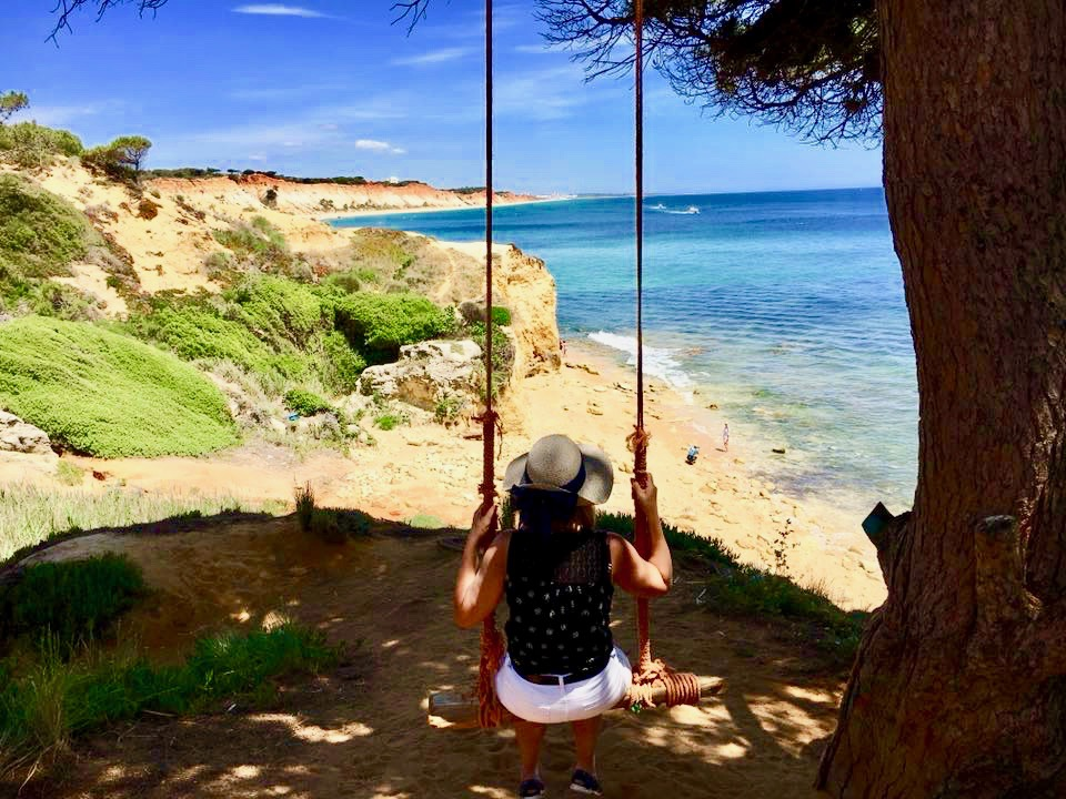 view swing Algarve Atlantic ocean