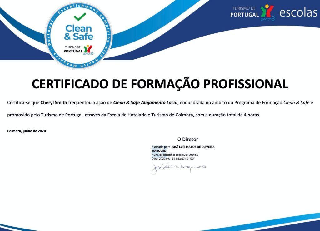 Portugal Algarve clean&safe seal certificate to control the spread of Coronavirus