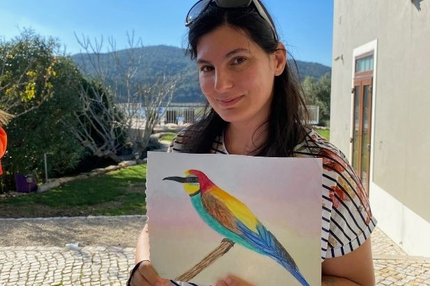 Learn how to draw and paint the bee-eater bird
