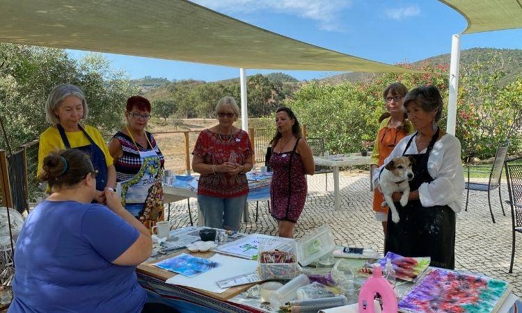 watercolour workshop demonstration algarve